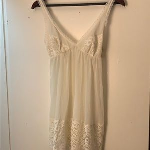 White lace Night Dress
